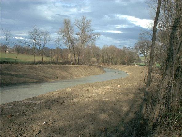 Erosione Misa - Loc. Pioli (2) - febbraio 2006