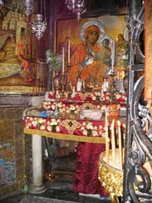 Altare copto nella parte dietro del Santo Sepolcro