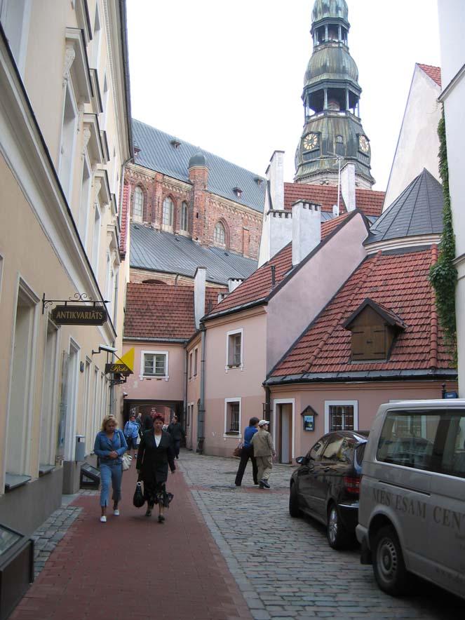 Una via della Città Vecchia di Riga