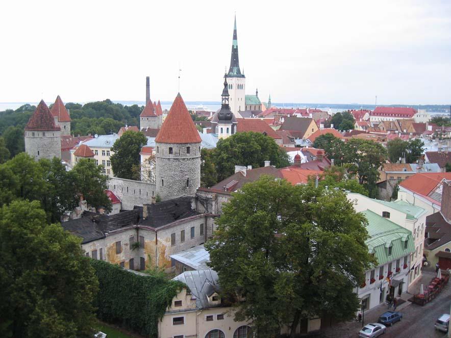 Panoramica della Città Vecchia di Tallinn