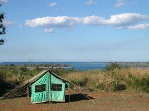 La mia tenda con vista sulla baia di Mtwara