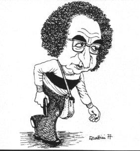 Vignetta di Giorgio Forattini sugli avvenimenti del 12 maggio 1977