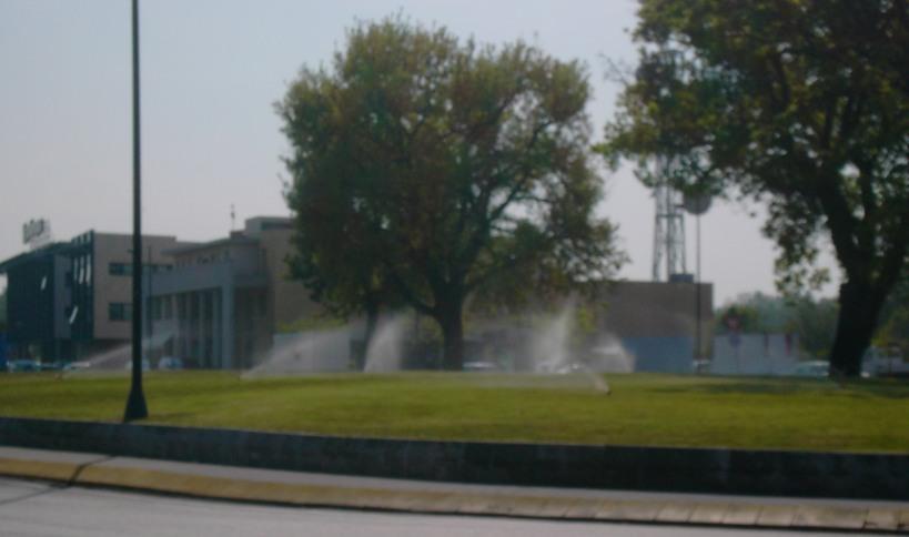 Irrigazione in via Giordano Bruno - Senigallia