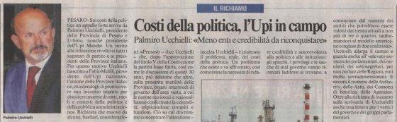 Palmiro Ucchielli sui costi della politica