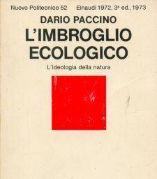 """Dario Paccino, """"L'imbroglio ecologico"""" (copertina)"""