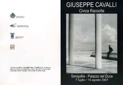 Il volantino della mostra di Giuseppe Cavalli - Senigallia, Palazzo del Duca