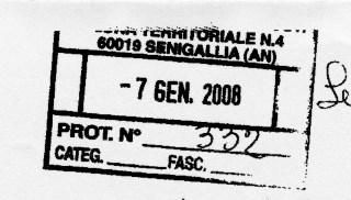 Timbro della richiesta atti pubblici selezione Chirurgia Senigallia
