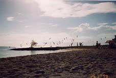 Spiaggia controluce