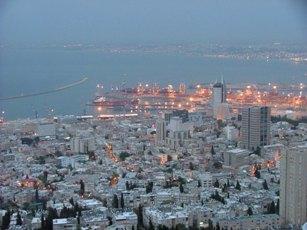 dal Monte Carmelo, la città ed il porto di Haifa