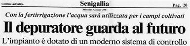 """""""Il depuratore guarda al futuro"""", di David Fiacchini"""