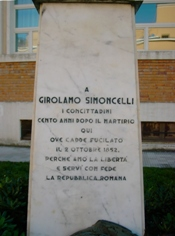 La lapide dedicata a Girolamo Somoncelli