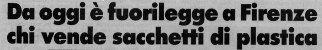 Sacchetti di plastica vietati a Firenze, La Stampa, 1987