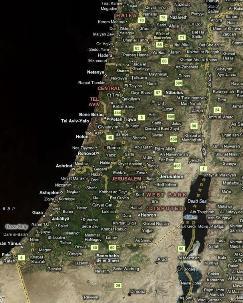 Foto aerea di Israele