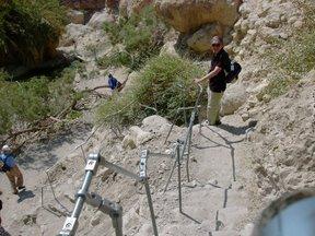 Sentiero di discesa con corrimano (Riserva Naturale di Ein Gedi)