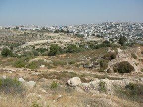 La barriera difensiva di fronte a Betlemme