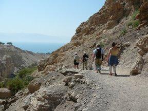 Riserva naturale di Ein Gedi e, sullo sfondo, il Mar Morto