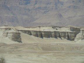 Depositi evaporitici nei pressi del Mar Morto