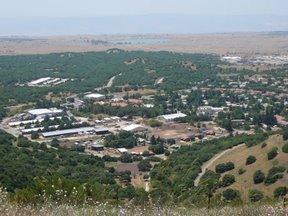Kibbutz sulle alture del Golan