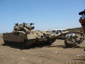 Carristi dell'IDF in esercitazione