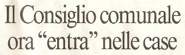 Il Consiglio Comunale entra nelle case - Il Messaggero (10/12/08)