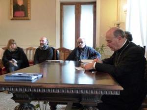 Il Vescovo di Senigallia Giuseppe Orlandoni incontra i giornalisti