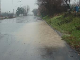 Ristagno d'acqua su Via delle Saline (Senigallia)