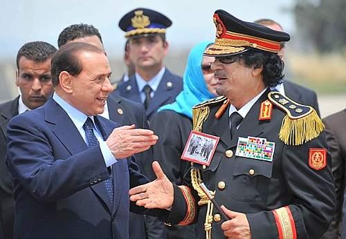 ITALY-LIBYA-BERLUSCONI-KADHAFI-ARRIVAL