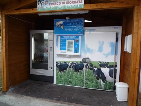 Distributore di latte crudo