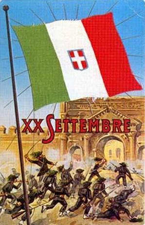 Cartolina XX settembre - Porta Pia - Roma