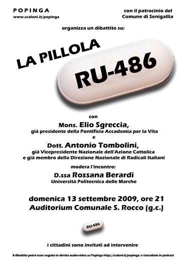 Dibattito sulla pillola RU-486 - il manifesto